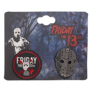 Friday The 13th Pins Set Hockey Mask Jason
